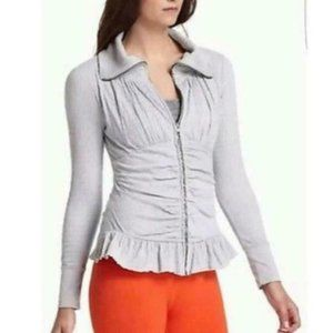 E by Eloise Anthropologie Ruched Zip Light Jacket
